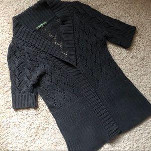 Eddie Bauer charcoal grey knit cardigan sweater